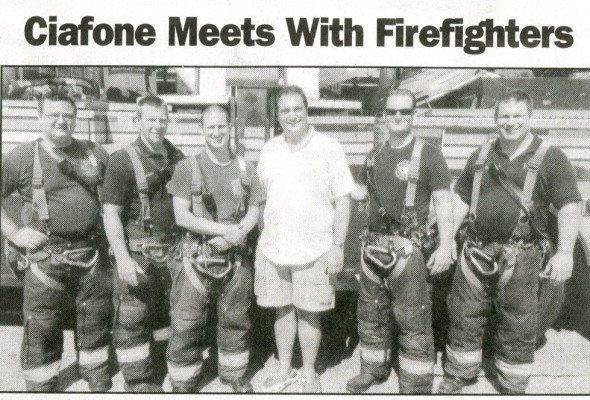 Ciafone Meets With Firefighters
